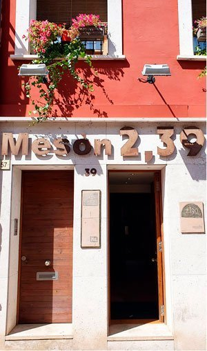 Fachada Mesón Castellano 239 en Tudela de Duero