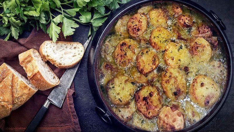 Patatas a la importancia Mesón Castellano 239 en Tudela de Duero